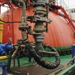 Stock Photo: Process on Oil and gas transfer platforms