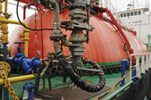 Process on Oil and gas transfer platforms — Stock Photo