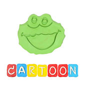 Color children's cartoon plasticine on a white background — Foto de Stock