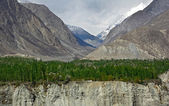 Karakoram mountain range, himalayas of Pakistan — Stock Photo