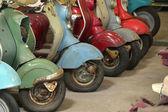 Close-up detail retro motorcycle — Stock Photo