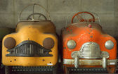 Close-up detail antique Pedal Car — Stockfoto