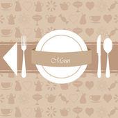 Restaurant menu and background design — Stock Vector