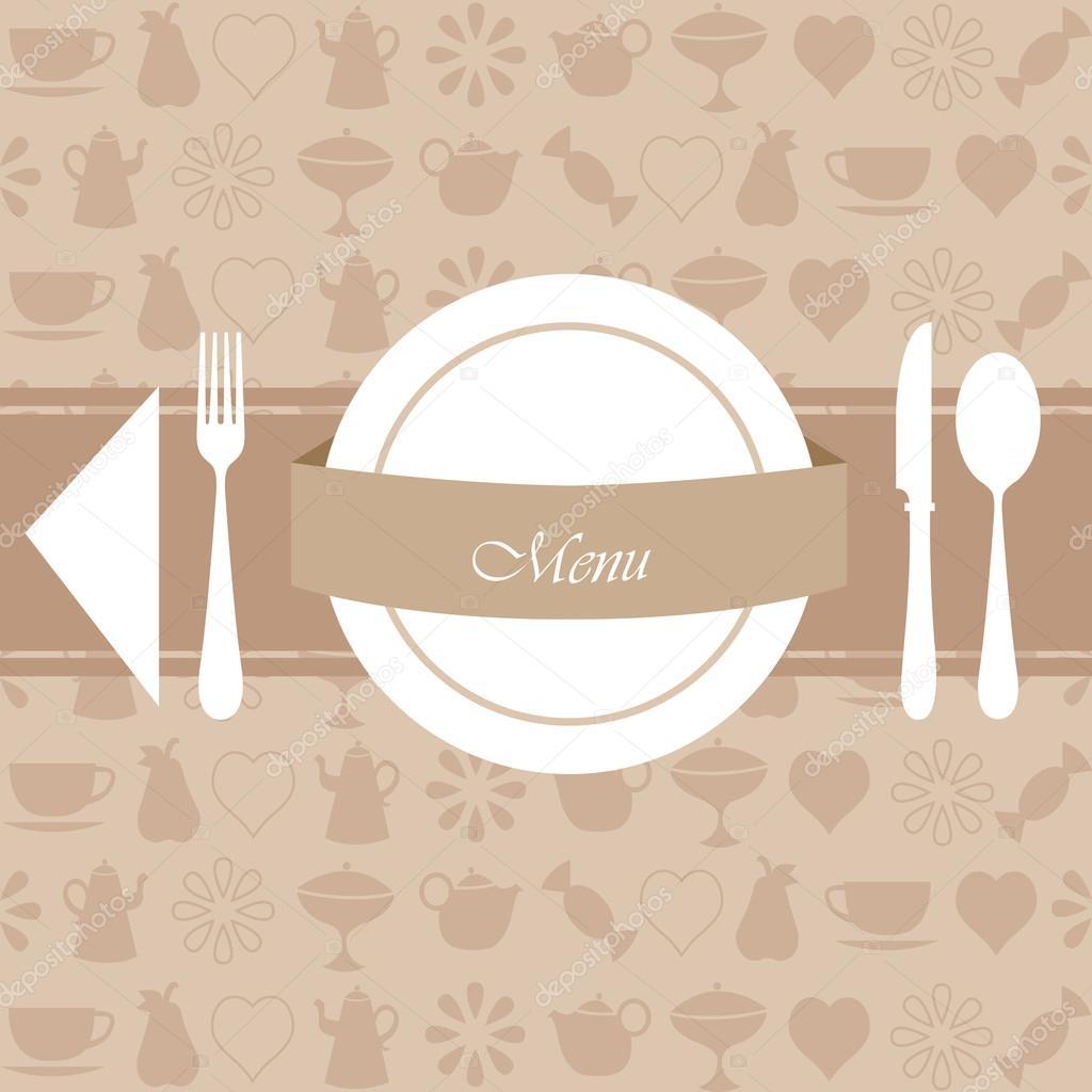 Conception de menu et fond de restaurant — Image ...