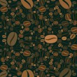 Coffee beans background — Grafika wektorowa