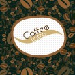 Coffee beans background — Imagen vectorial