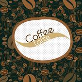 Fond de grains de café — Vecteur