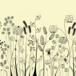 Stock vektor: Hand drawing flowers and herbs