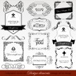 Calligraphic design elements — Vettoriale Stock #13520468