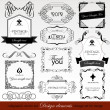 Calligraphic design elements — Stok Vektör #13520468