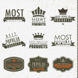 Most popular signs and labels — Vector de stock #13528509