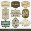 Vintage Labels — Vector de stock #13528512