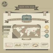Sitio web de estilo retro vintage — Vector de stock
