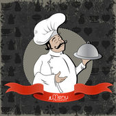 Chef illustration — Vector de stock