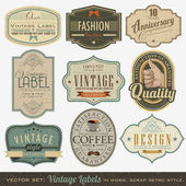 Vintage Labels — Vettoriale Stock