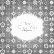 Template frame design for xmas card — Stock Vector