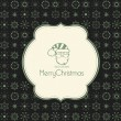Template frame design for xmas card — Imagen vectorial
