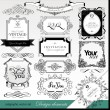 Calligraphic design elements for design — Stock Vector