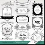 Calligraphic design elements for design — Stock Vector