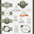 Premium Quality labels — Vector de stock #13847335