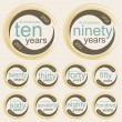 Anniversary signs and cards vector design — 图库矢量图片 #13847336