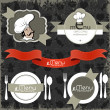 Restaurant menu design elements - Stock Vector