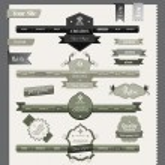 Vintage style website elements — Stock Vector