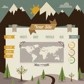 Modelo de site retro vintage — Vetorial Stock