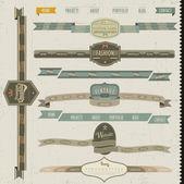 ビンテージ スタイルのウェブサイトの要素 — ストックベクタ