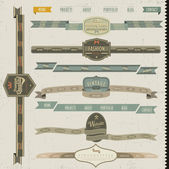 Vintage style website elements — Vecteur
