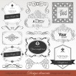 Vector set  calligraphic design elements — Stok Vektör
