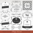 Vector set calligraphic design elements — Stock Vector