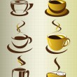 Coffee cup elements and collection for design — Stok Vektör #14004637
