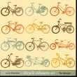 Stock Vector: Vector bicycle silhouette set