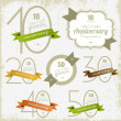 Anniversary signs and cards illulstration design Jubilee design — ストックベクター #14004780