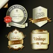 Stockvektor : Retro vintage labels