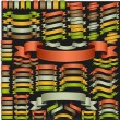 Set of vector ribbons — Vettoriale Stock #14005046