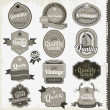 Vintage premium qualitylabels — Stockvector #14005184