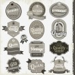 Vintage premium qualitylabels — Stock Vector
