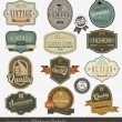 Vintage premie qualitylabels — Stockvector