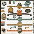 Stock Vector: Vintage style website elements