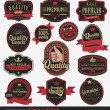 Vintage premium quality labels — Vector de stock #14005438