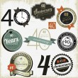 40 years Anniversary signs-designs collection — Stok Vektör #14005442