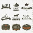 Most popular signs and labels — Vector de stock #14005465