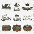 Most popular signs and labels — Image vectorielle