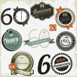 Stock vektor: 60 years Anniversary signs-designs