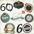 Stock Vector: 60 years Anniversary signs-designs