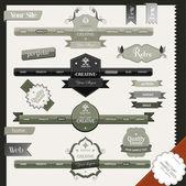 Retro vintage style website elements — Stock Vector