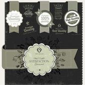 Vintage premium quality labels — Stock Vector