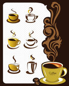 Coffee cup elements and collection for design — Stock Vector